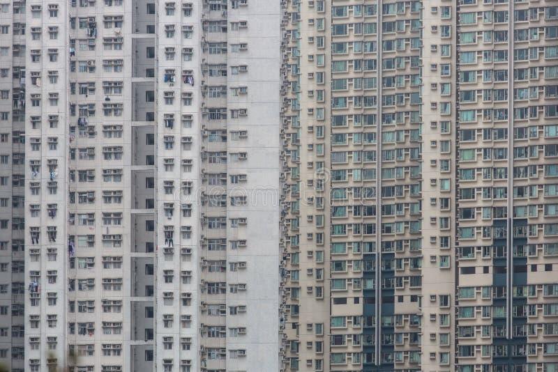 Vivienda y edificio apretados de Hong Kong fotografía de archivo libre de regalías