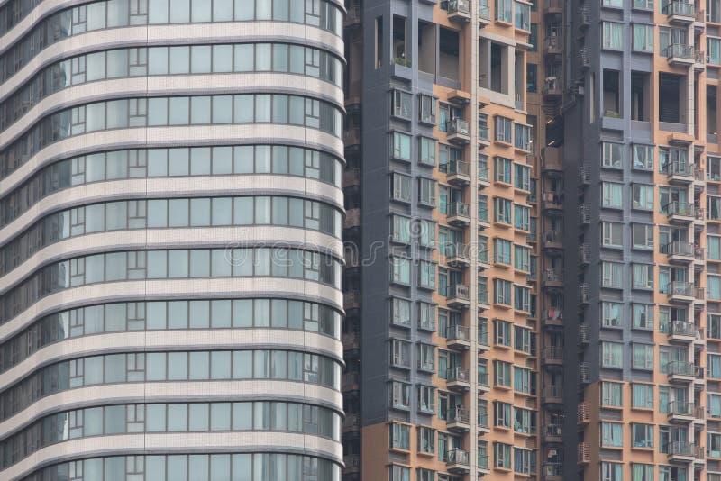 Vivienda y edificio apretados de Hong Kong imagen de archivo