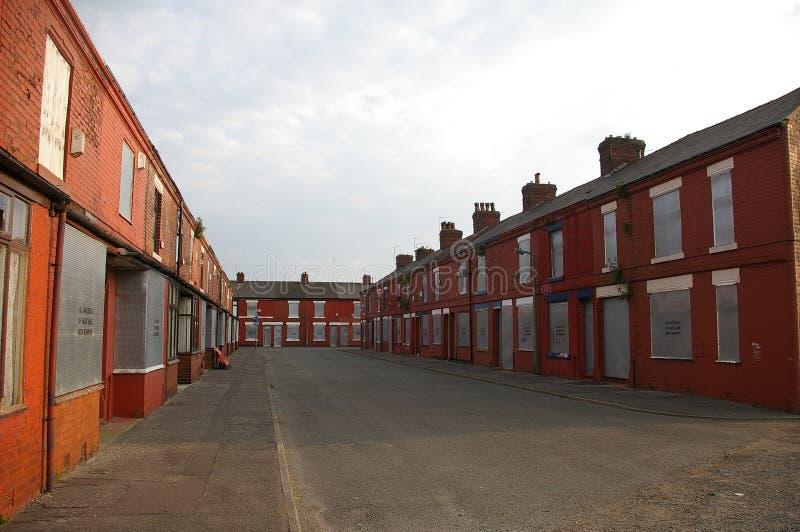 Viviendas de Salford para la demolición imagenes de archivo