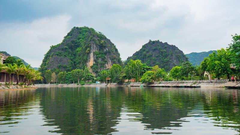 Viviendo en el Trang un Ninh Binh, Vietnam imagen de archivo