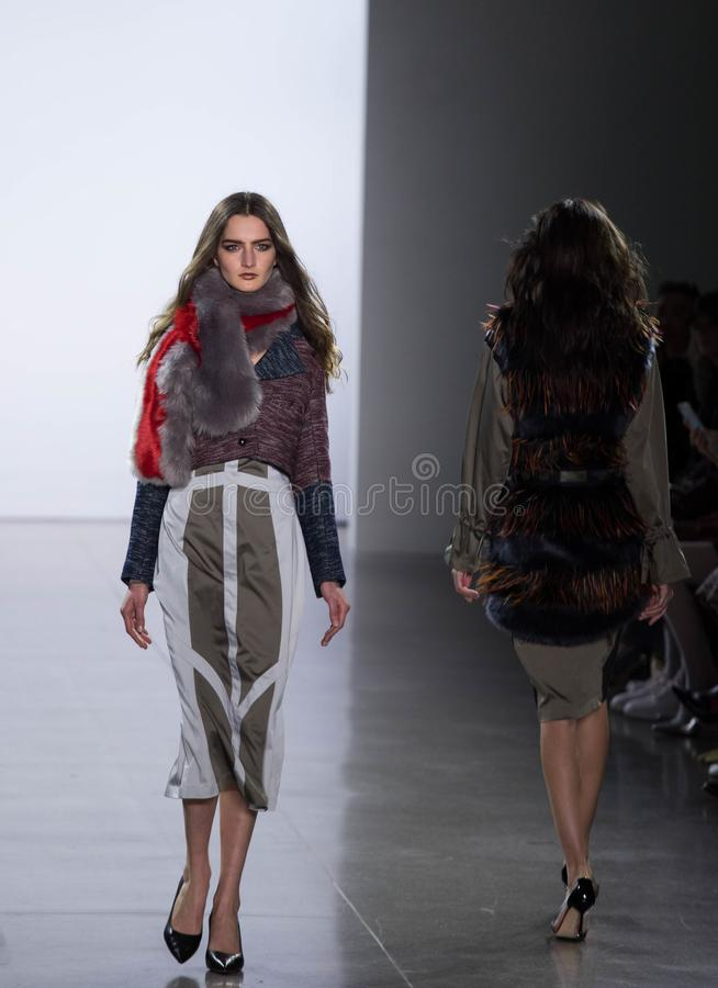 Vivienne Hu Fall/Winter Collection during New York Fashion Week stock photo
