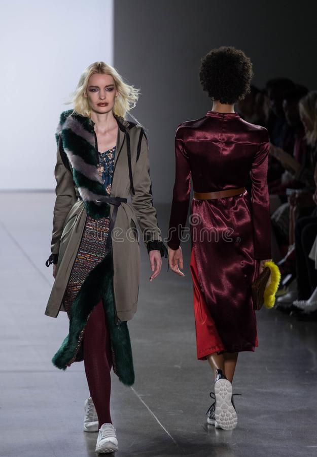 Vivienne Hu Fall/Winter Collection during New York Fashion Week stock image