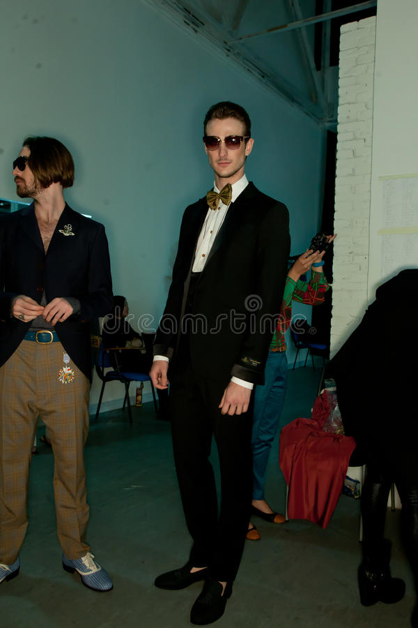 Vivienne Westwood shanghai show backstage royalty free stock photography