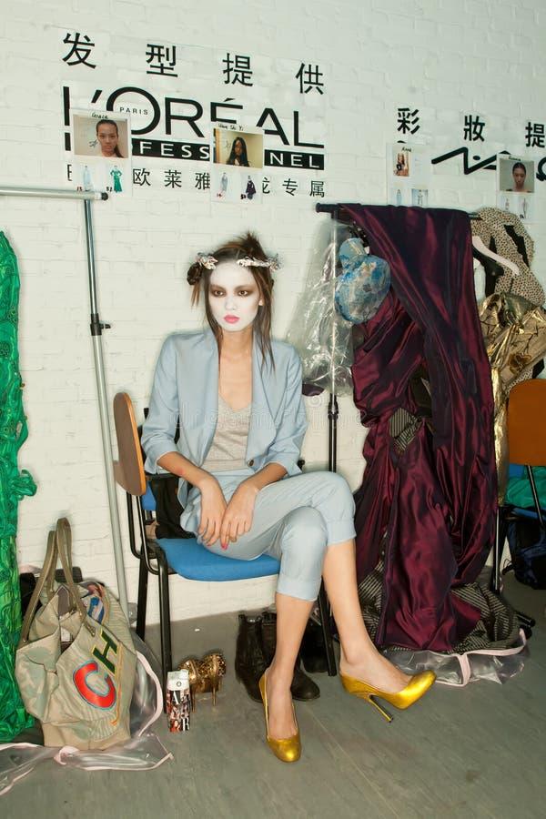 Vivienne Westwood shanghai show backstage stock photos