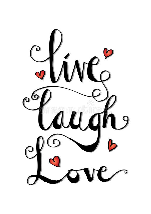 Vivo, riso, cartão do amor ilustração stock