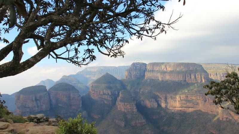 Viwe del canyon del fiume di Blyde immagine stock