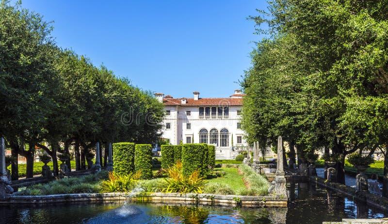 Vizcaya-Museum und -gärten in Miami, Florida lizenzfreie stockbilder