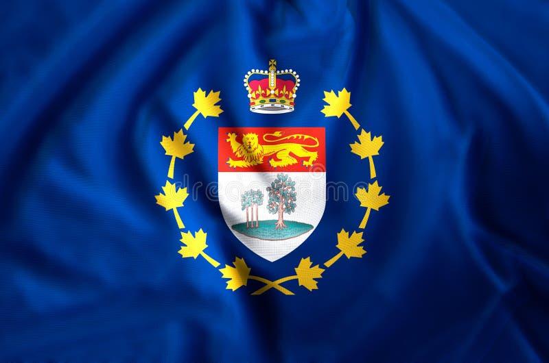 Vizegouverneur von Prinzen moderne und realistische Nahaufnahmeflaggenillustration Edward Islands Vervollkommnen Sie für Hintergr lizenzfreie stockfotografie