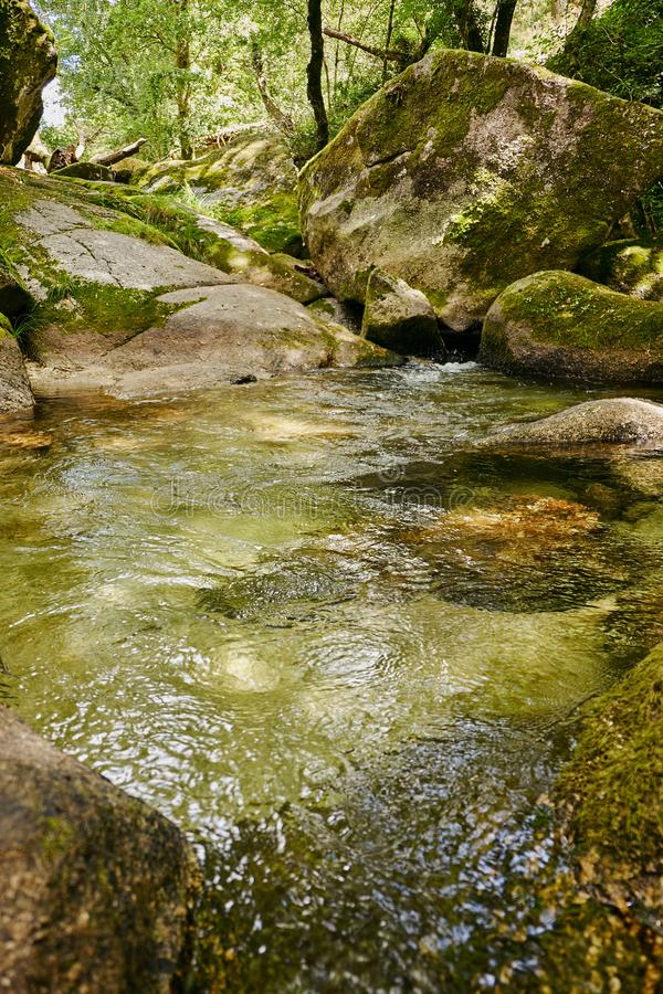 Vizela river Pontido stock photo