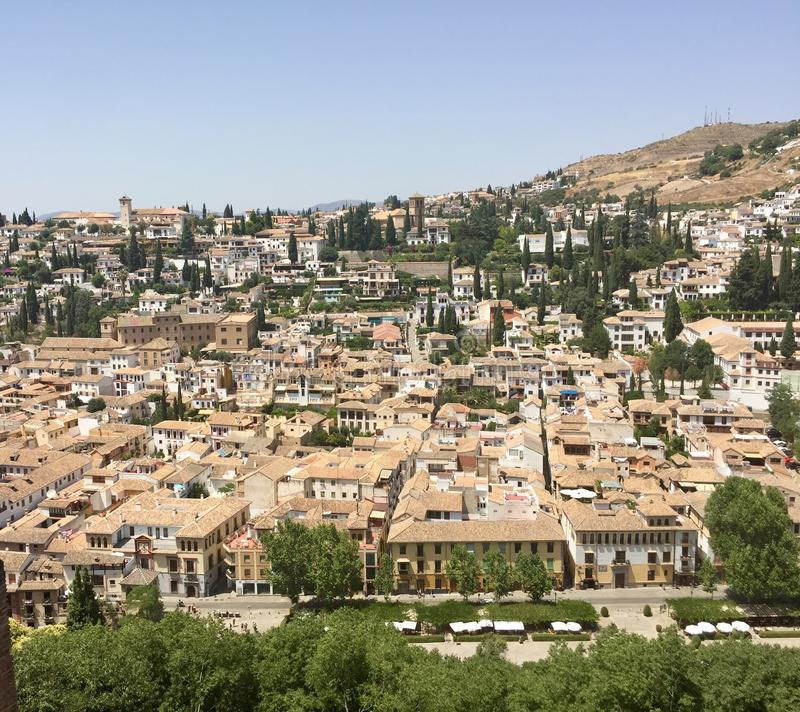 vizinhança da Espanha de granada do albaicin imagem de stock