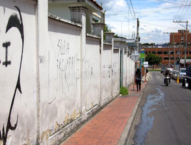 Vizinhança de Usaquen de Bogotá Colômbia imagem de stock royalty free