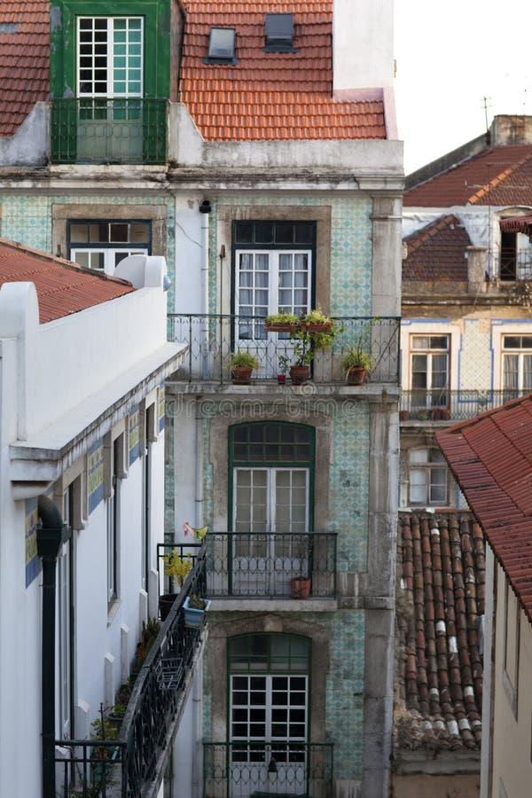 Vizinhança Lisboa de Alfama fotografia de stock royalty free