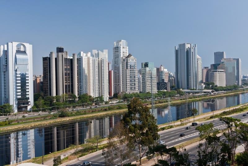 Vizinhança Sao Paulo de Brooklin fotografia de stock