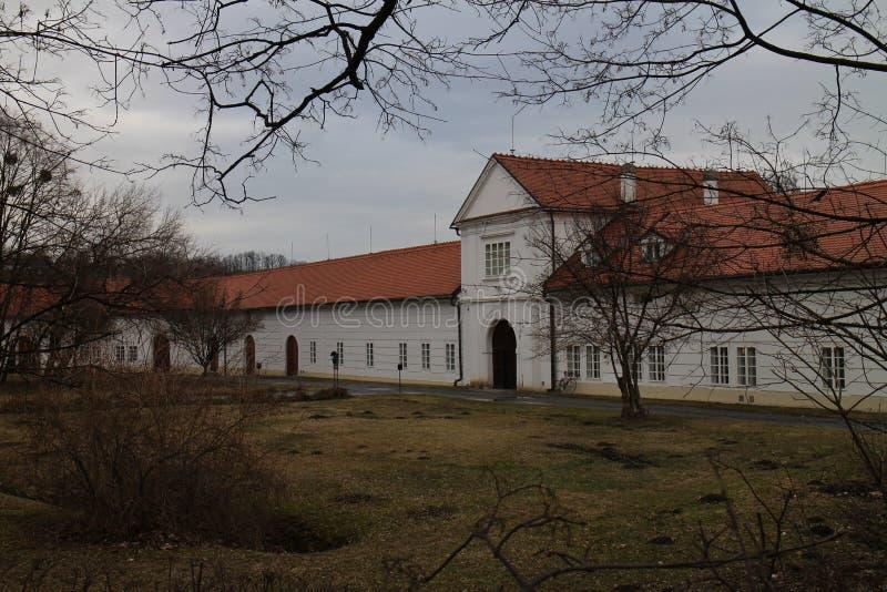 Vizovicechateau, ZlÃn-gebied stock afbeelding