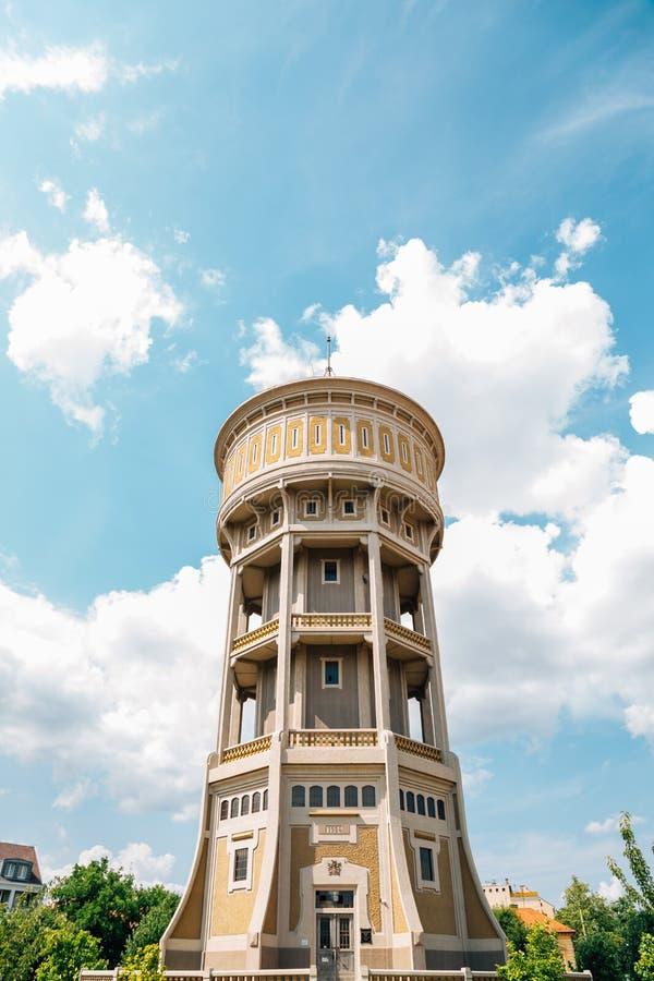 Viztorony watertoren vierkant in Szeged, Hongarije royalty-vrije stock afbeelding
