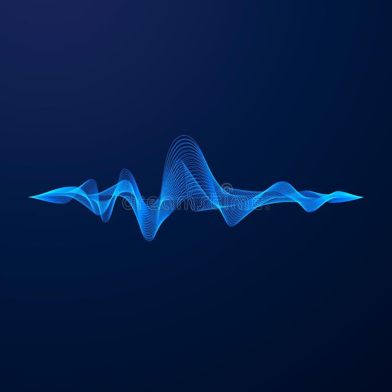 Vizualisation do equalizador Energia de onda sadia Ilustração do vetor ilustração stock