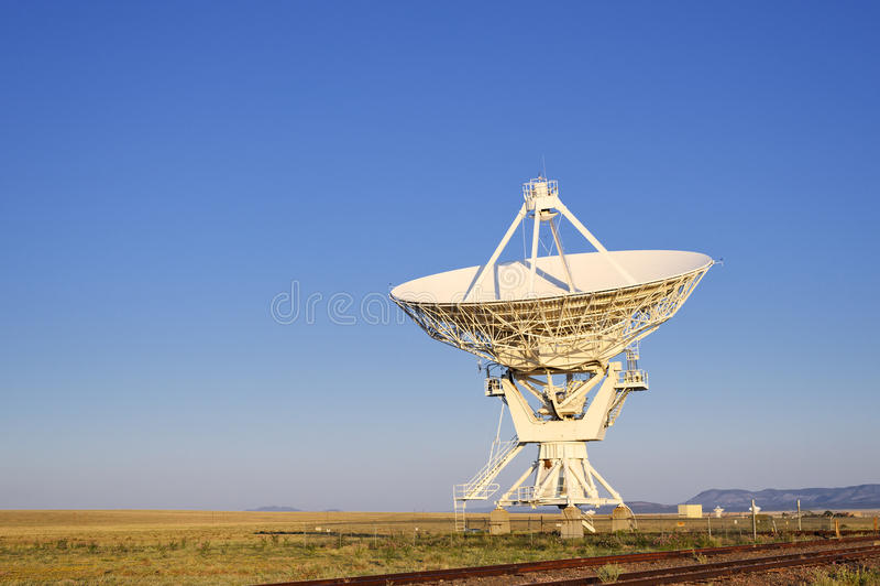VLA无线电望远镜 库存图片
