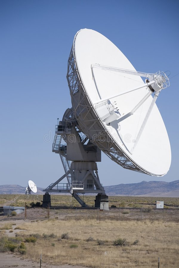 VLA radio telescope antenna. In New Mexico royalty free stock images
