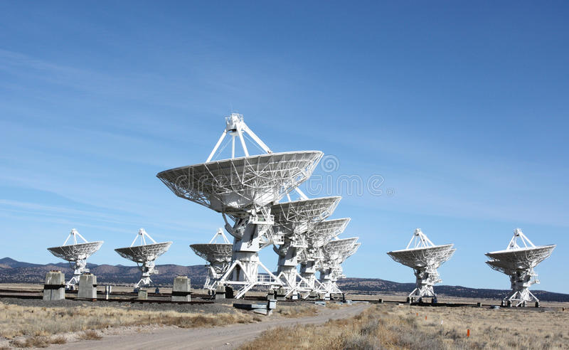 Download VLA radio telescopes stock image. Image of galaxy, dish - 12353631