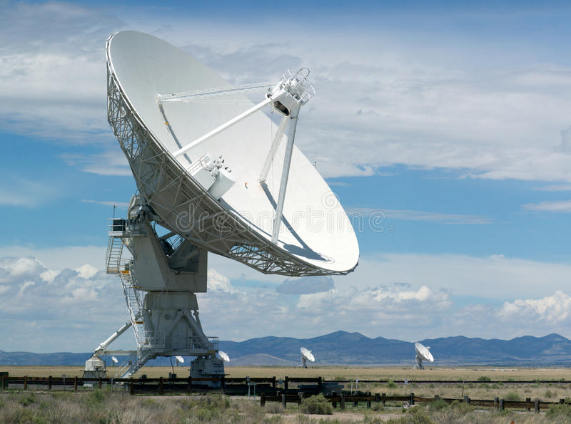 VLA (Very Large Array) - a group of radio telescopes in New Mexico (USA) stock photo