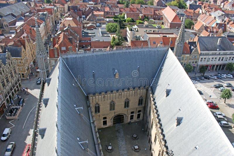 In Vlaanderen Fields Museum, Ypes, België stock foto