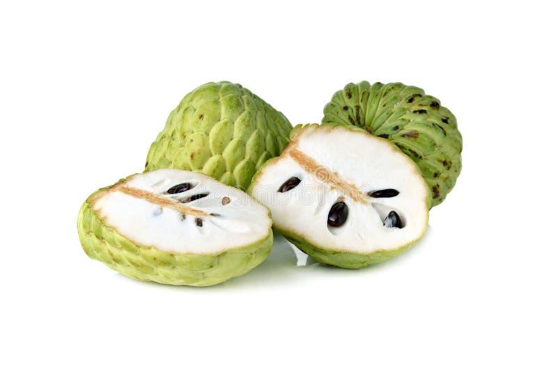 Vlaappel of van de suikerappel fruit op wit royalty-vrije stock afbeelding
