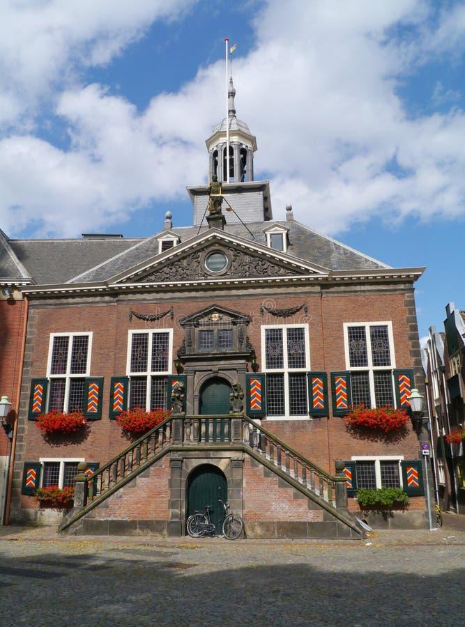 Vlaardingen in the Netherlands. The historic town hall of Vlaardingen in the Netherlands royalty free stock photos
