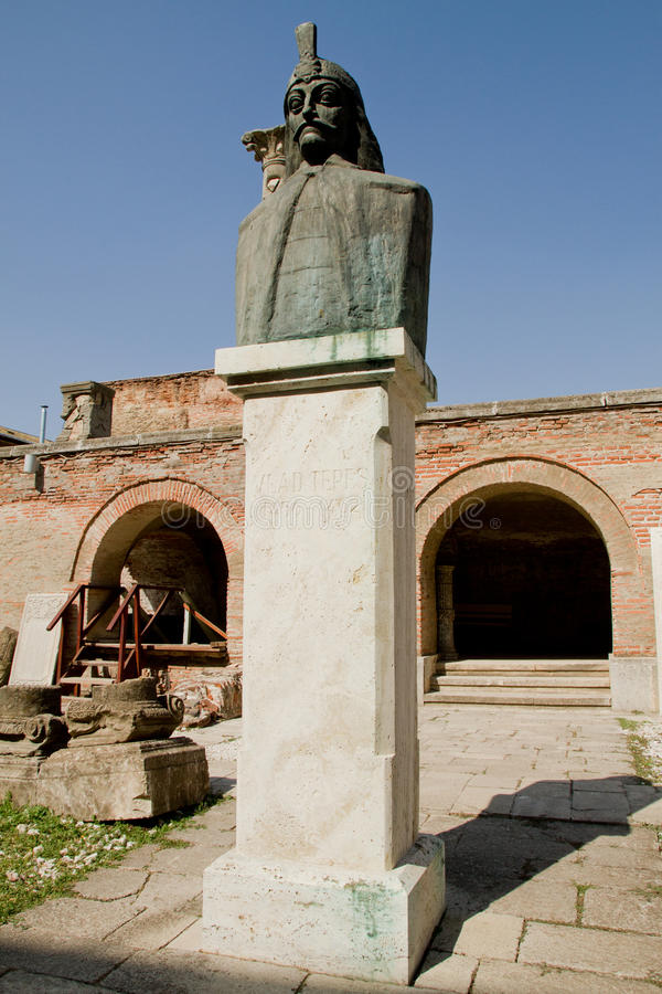 Download Vlad Tepes Dracula Statue, Old Princely Court Stock Image - Image: 26517429