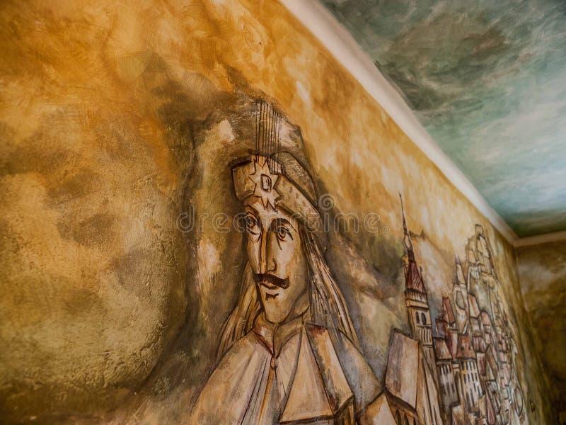 Vlad Tepes Mural fotografia de stock