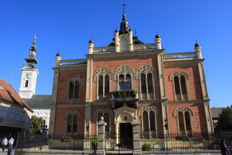 Vladicin domstol, slott av biskopen i Novi Sad, Serbien arkivfoton