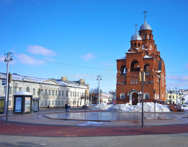 vladimir России - 16-ое февраля 2019 Церковь Владимир троицы стоковое фото