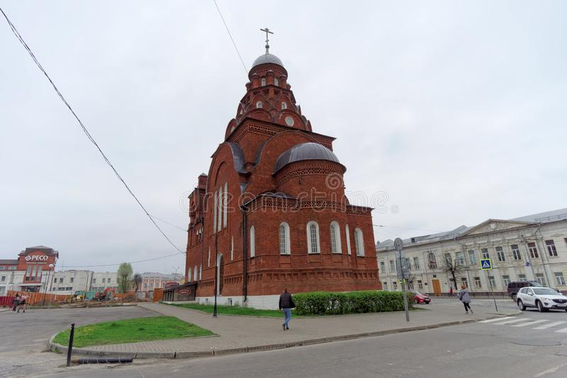 vladimir России - 6-ое мая 2018 Церковь Владимир троицы стоковая фотография rf