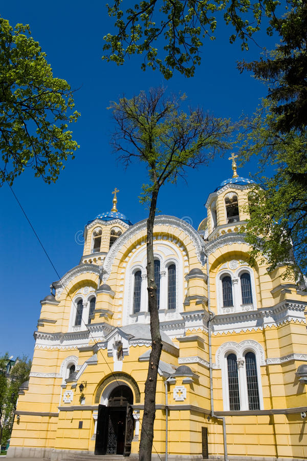 The Vladimir cathedral. In the spring, Kiev, Ukraine stock photography