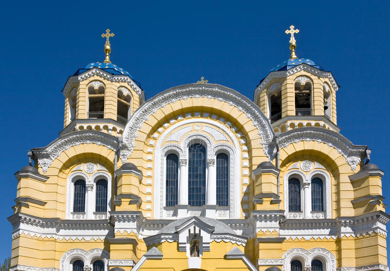 The Vladimir cathedral. Against the sky, Kiev, Ukraine royalty free stock photography