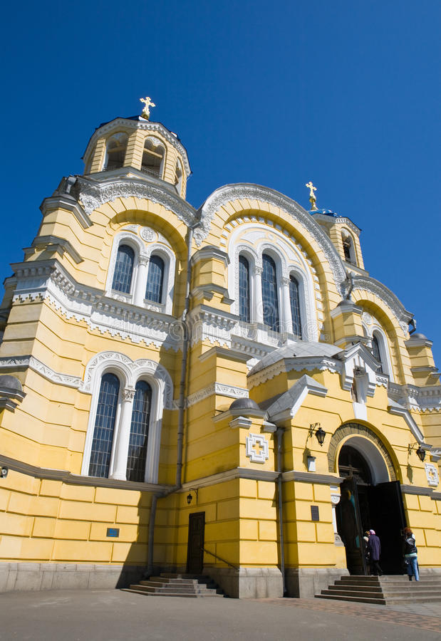 The Vladimir cathedral. Against the sky, Kiev, Ukraine stock photo