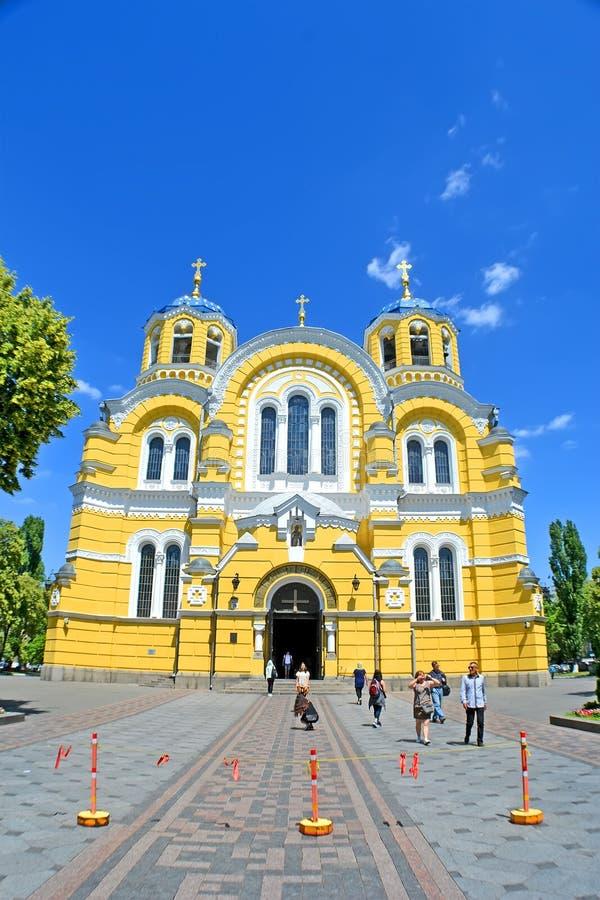 Vladimir Cathedral aka Volodymyrsky domkyrka i Kiev, Ukraina, arkivbilder