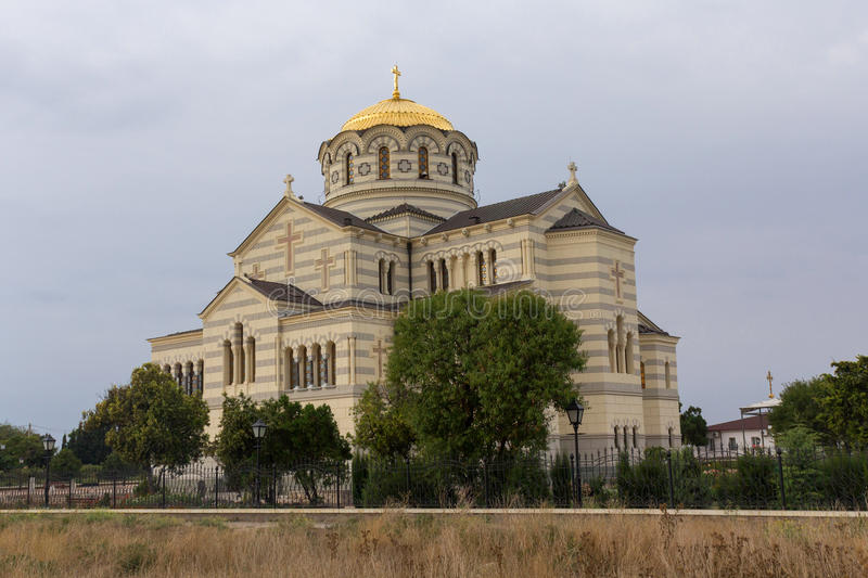 Vladimir Cathedral in Chersonese Taurian stock foto