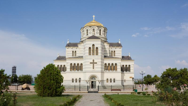 Vladimir Cathedral in the Chersonesos Taurica royalty free stock photography