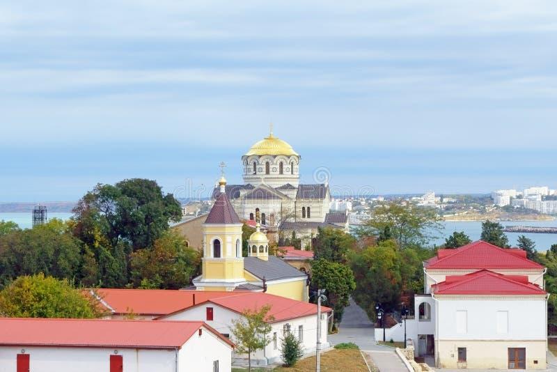 The Vladimir Cathedral In Sevastopol Stock Photography