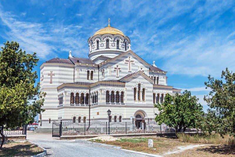Vladimir Cathedral in Tauric Chersonesos, Sevastopol city royalty free stock photography
