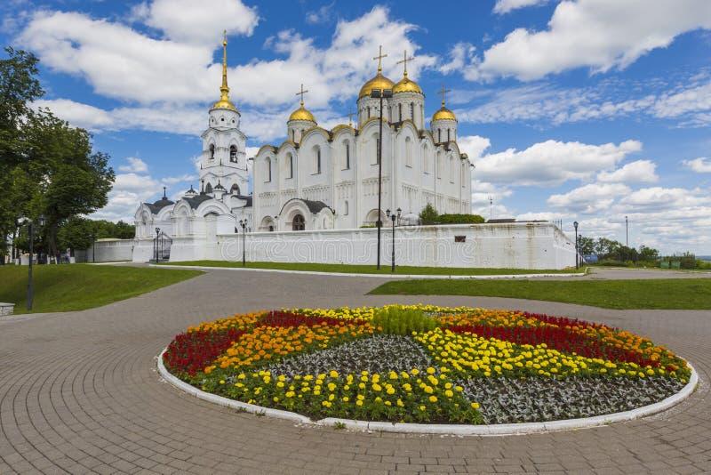 VLADIMIR - 5. JUNI 2016: Annahmekathedrale bei Vladimir in SU lizenzfreie stockfotos