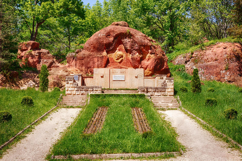 Vladimir Lenin bas relief at Red Rocks stock photography