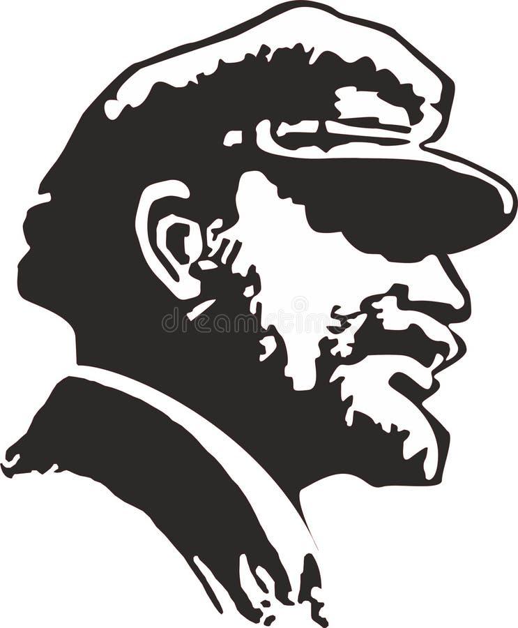 Vladimir Lenin. Vladimir Ilyich Ulyanov. Russian communist revolutionary, politician and political theorist vector illustration