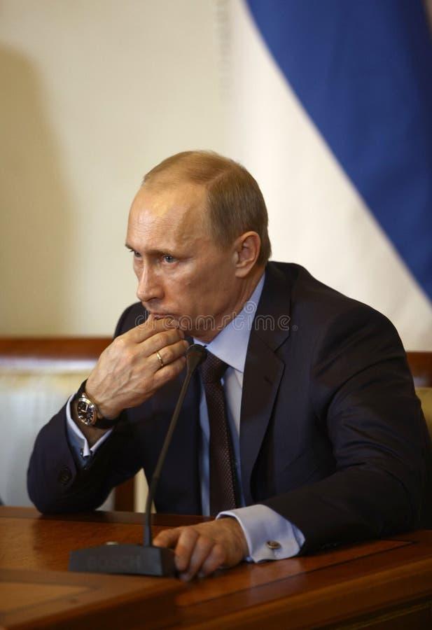 Vladimir Putin. Portrait of prime minister of Russian Federation Vladimir Putin royalty free stock photos