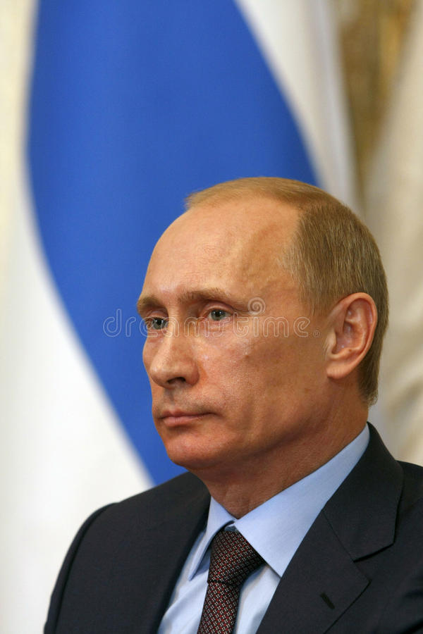 Vladimir Putin stock afbeelding