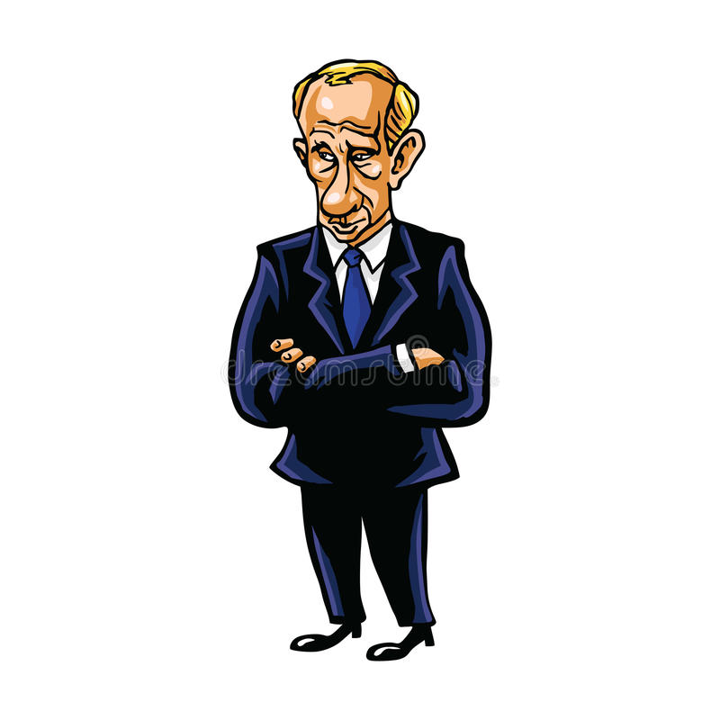 Vladimir Putin Cartoon Portrait del presidente de la Federación Rusa libre illustration