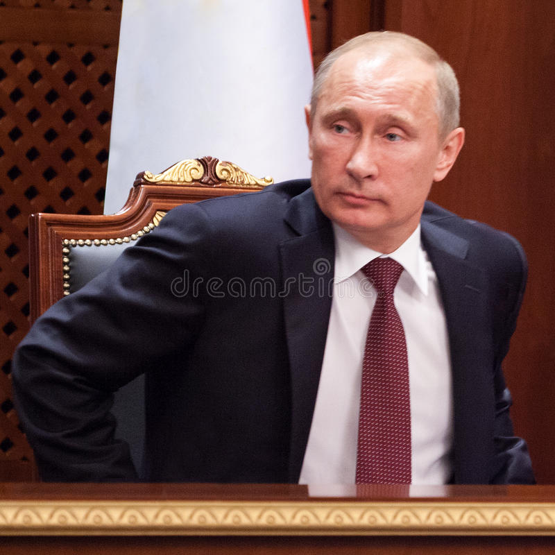 Vladimir Putin. 2nd and 4th President of Russia stock photo