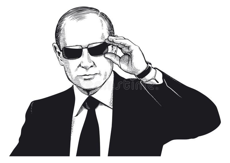 Vladimir Putin portret royalty ilustracja