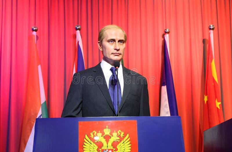 Vladimir Putin, wasstandbeeld, wascijfer, waxwork royalty-vrije stock afbeeldingen