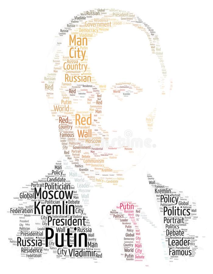 Vladimir Putin Word Cloud libre illustration
